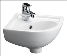 Barclay Petite Corner Wall Hung Basin Sink White Barclay