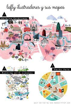 Maps by Antoine Corbineau http://www.antoinecorbineau.com/