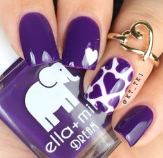 I am providing you a post of best Valentine's Day nail art designs & ideas, these Vday nails are adorable and I am sure your other half will appreciate your efforts and beauty. Nail Art Designs 2016, Purple Nail Designs, Cute Nail Designs, Heart Nail Designs, Nail Art Diy, Diy Nails, Cool Nail Art, Love Nails, Pretty Nails