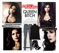 Katherine Pierce inspired outfit by tvdsarahmichele on Polyvore featuring TIBI, IRO, NinaDobrev, KatherinePierce and thevampirediaries