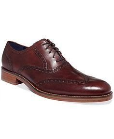 Cole Haan Men's Shoes, Air Madison Wing-Tip Oxfords - Brown Cole Haan Mens Shoes, Men's Shoes, Shoe Boots, Wingtip Shoes, Brogues, Brown Oxfords, Dream Shoes, Dress With Boots, Good Looking Men