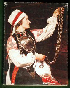An Estonian folk costume