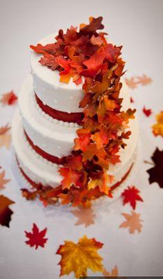My fall wedding cake