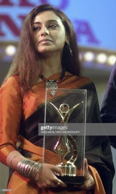 Indian actress Rani Mukherjee holds the best actress award during the Bengal Film Journalists' Association award ceremony in Calcutta, 01 November The ceremony was attended by Amitabh. Get premium, high resolution news photos at Getty Images Beautiful Bollywood Actress, Beautiful Indian Actress, Rani Mukerji, Diana Penty, Best Actress Award, Indian Actresses, Cool Girl, The Best, Hold On