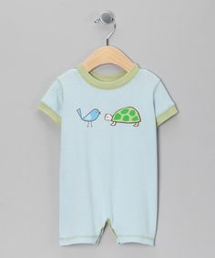 Blue Bird & Turtle Romper by CloudMine on #zulily