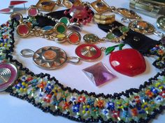 Jewelry vintage mixed vintage jewelry lot enamel by TigersPlace, $12.00