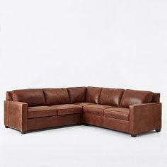 Henry 3-Piece L-Shaped Sectional - Leather