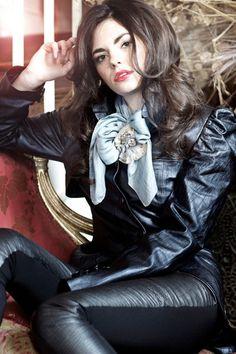 Midnight Metallic Blue Luxury Leather Ladies Burlesque Steampunk Victorian Tailcoat