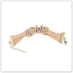 """Almojewellery - Chunky Buriti Palm Straw Bracelet """"Love"""", £16.99 (http://www.almojewellery.com/bu-ri-tee/ambtpu014/chunky-buriti-palm-straw-bracelet-love/)"""