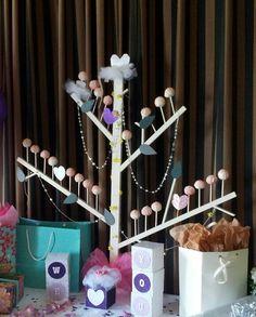 Cake pop tree & DIY bridal shower decorations.