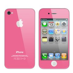Pink Iphone4 pink glass face switch out.  I REALLY REALLY REALLY want this!! $150....