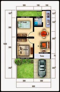 Gambar Denah Rumah Minimalis Ukuran 6x10 Terbaru Desain Rumah