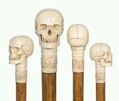ivory cane handles, 19th century.