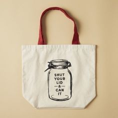 Market Tote Bag - Can It. I'd just like the image in a frame in the kitchen