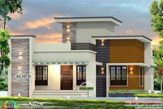 2 Bedroom Mobile Home Plans Elegant Flat Roof House Designs 1861 Square Feet 2 Bedroom Flat Roof Flat Roof Design, House Roof Design, House Outside Design, Flat Roof House, Bungalow House Design, Front Design, House Front, Kerala House Design, Unique House Design