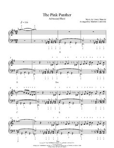 pink panther piano sheet music free pdf