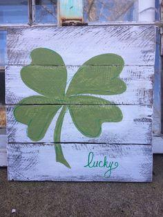 St. Patricks day decor shamrock decor by SplendorInTheRough
