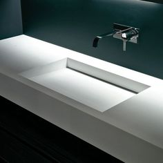 BESPOKE CORIAN VANITY SINGLE/DOUBLE WITH HIDDEN WASTE in Home, Furniture & DIY, Bath, Sinks | eBay