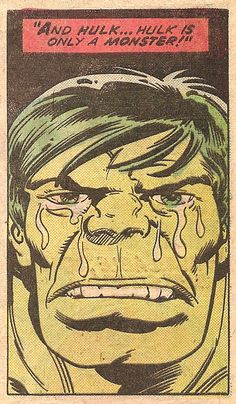 Only A Monster (by Herb Trimpe & Joe Staton from The Incredible Hulk #189, 1975)