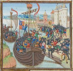 « Chroniques sire JEHAN FROISSART » Date d'édition :  1401-1500  Français 2643  Folio 42v