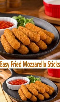 These easy Fried Mozzarella Sticks are just about the best easy appetizer recipe you could make. Serve these up for an after school snack or for dinner, because they are a winner.