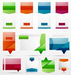 Clean Style Vector Banners by antishock Pack of glossy clean style vector banners. Can be used for product promotion, text placement or as speech bubbles and map pointers