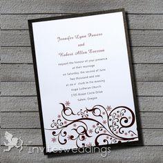 Vintage Layered Wedding Invitations