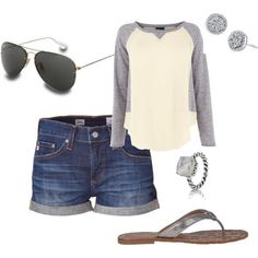 Awesome summer outfit! Just make the shorts a little longer and it would be perfect! And gladiators