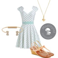 The Story of Citrus Dress in Mint by modcloth on Polyvore