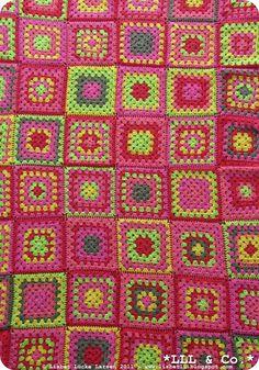 Crochet Granny Blanket (by: me) 2011 #crochet #blanket #granny #colours #colors