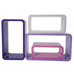 Modular Shelves in pink and purple
