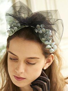 CA4LA Bridal カシラブライダル LILY DE LA VALLEE (No.SHI00437) スズラン×チュール ヘッドドレス (全2色) (フォーマル/ウエディング) (定番) 【select-shop】【送料無料】   ROOM Headpiece, Pin Up, Hair Makeup, Bridal, Kawaii, Wedding, Accessories, Hats, Fashion