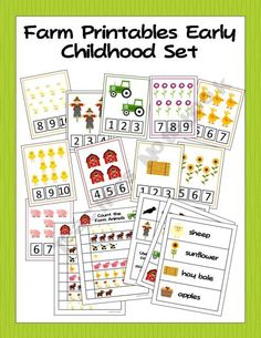 Printable Farm Activities for Preschool and Kindergarten. Fun flashcards to use in the classroom to help students learn math. The cards have a theme of farming so maybe have a farming related book to go along with the flashcards too.
