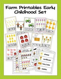 Printable Farm Activities for Preschool and Kindergarten (Farm Day)