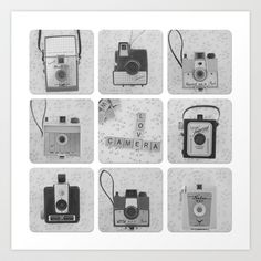 Camera Collector Art Print by Butterfly Photography - $28.00