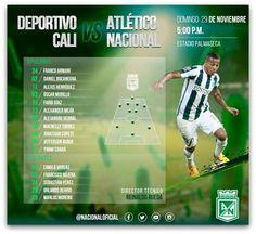 Titulares y suplentes para enfrentar al Deportivo Cali.