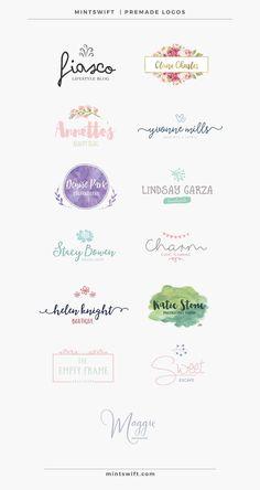 MintSwift Premade Logos | MintSwift Shop | Premade branding | Branding on budget…