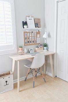 Home Office Design, Home Office Decor, Office Ideas, Desk Office, Lawyer Office, Ikea Office, Office Cubicle, Bedroom Desk, Diy Bedroom
