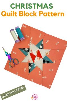 Christmas is almost here! Learn how to make this Christmas quilt block now, you can give this to your friends and family.