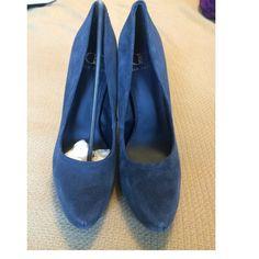 ✨SALE✨NIB Kelsi Dagger platform pump Never worn gorgeous navy suede pumps. Kelsi Dagger Shoes Platforms