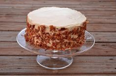 The Orange Pepper: Bacon Maple Cake Cake is time consuming but delicious. It calls for bacon and two different kinds of frosting. I cooked the bacon in the oven to save some mess and hassle. Cook extra bacon...
