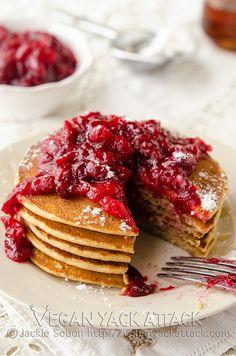 Cranberry Orange Pancakes - skip the oil... these sound wonderful!