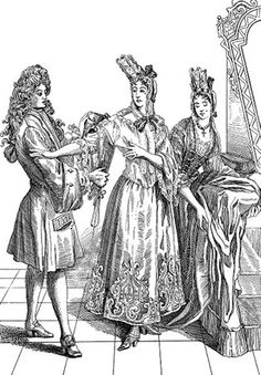 Duchesse de Fontanges headdress 1680-1710    In the late 1600s a fontange was high fashion for ladies hair. This wa