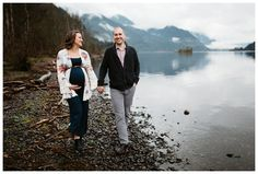 Maternity photos at Viento State Park in the Columbia River Gorge by Katy Weaver