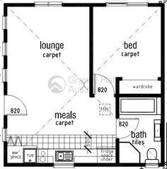 Ikea 600 sq ft home millennium apartments floor plan for Granny flat above garage plans