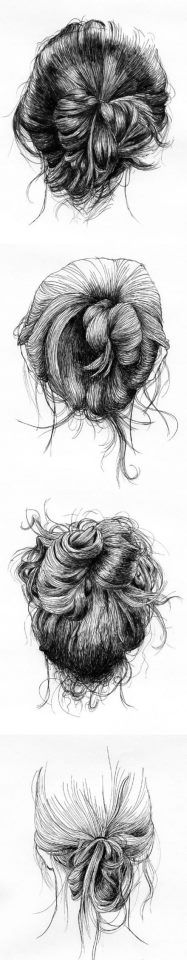sketching hair has to be one of this hardest things to make look even the tiniest bit of realistic!