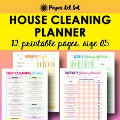 Cleaning Schedule and Home Organizer Planner Printables The Cleaning Planner Printable is designed to guide you in a deep clean, as well as assist with your regular housekeeping routine. Use the deep cleaning guide as a cleaning checklist for a total sweep down of your home.   https://www.etsy.com/listing/499201848/cleaning-planner-printable-cleaning