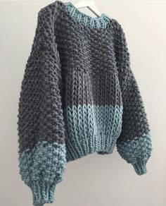 I couldn't love this Honey Bibi Sweater anymore 😍 Bespoke colour combination chosen my it's new owner 🙌🏻 Which had me like, I can't believe I haven't put them together before . Honey BiBi Sweater In Charcoal Grey/Duck Egg Blue Mix ✨✨✨ Sweater Knitting Patterns, Baby Knitting, Crochet Patterns, Knitwear Fashion, Knit Fashion, Knitting Projects, Crochet Projects, Crochet Clothes, Knit Crochet