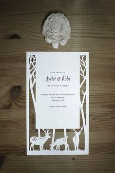 Gorgeous woodland wedding inspiration with everything from stump cake stands to butterflies in your hair. Woodland Wedding Invitations, Wedding Stationary, Diy Save The Dates, Save The Date Cards, Woodsy Wedding, Our Wedding, Wedding Ideas, 2017 Wedding, Friend Wedding