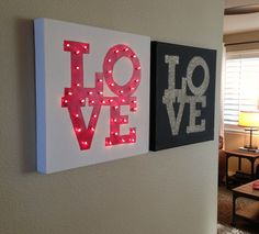 Love Canvas Project made with Lights! Created by Sarah Owens for #CraftWarehouse